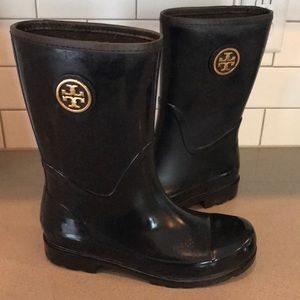 Navy Blue Tory Burch SZ 8 Rainboots